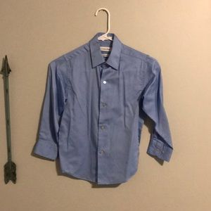 Boys long sleeve blue shirt